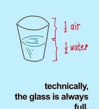 Bicchiere mezzo vuoto o mezzo pieno?